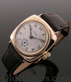 An early 9ct rose gold cushion vintage Rolex Oyster watch, 1928