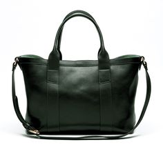 green small tote with strap by lotuff leather e78884faa2b17