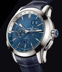 Ulysse Nardin Perpetual Calendar blue platinum detail - Copy