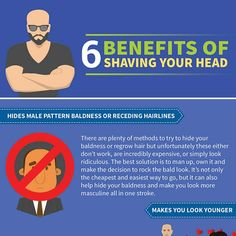 Real Men Go Bald: Benefits of Shaving Your Head (Infographic) Shaved Head With Beard, Shaved Heads, Bald Men With Beards, Bald Man, Guys Grooming, Beard Grooming, Manscaping Tips, Bald Men Style, Alpha Man