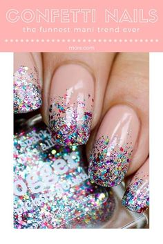 Simple Nail Art Designs That You Can Do Yourself – Your Beautiful Nails Bling Nail Art, Bling Nails, Diy Nails, Glitter Nails, Cute Nails, Pretty Nails, Glitter French Manicure, French Nails, Cool Nail Designs