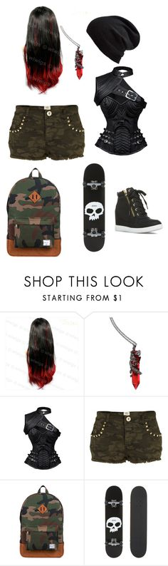 """""""The older twin"""" by buttercupz on Polyvore featuring River Island, Herschel Supply Co., Zero and Echo"""