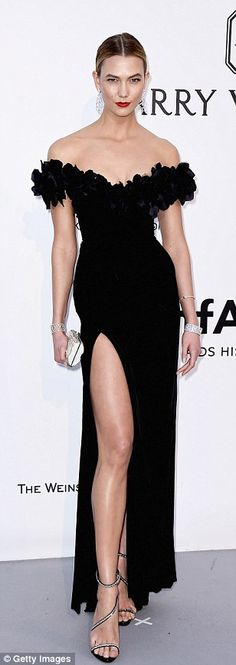 Karlie Kloss, Alessandra Ambrosio and Heidi Klum show some serious leg as they take on busty Katy Perry and Lara Stone in the fashion stakes at amfAR's Cinema Against AIDS Gala | Daily Mail Online