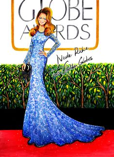 Today's Illustration is inspired by Trend setter Fashionista Nicole Richie Golden Globes 2013 look. Doesn't she look stunning in the her lovely Naeem Khan gown? Fashion Art, Fashion Beauty, Girl Fashion, Fashion Design, Fashion Sketches, Fashion Illustrations, Nicole Richie, Golden Globes, Types Of Fashion Styles