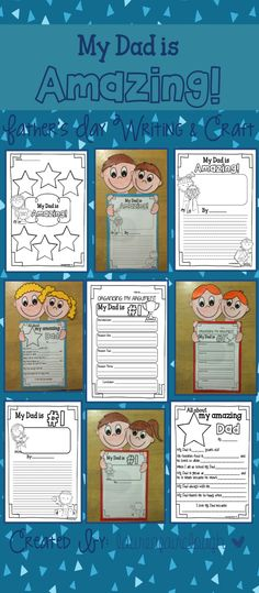 Father's Day Writing Craftivity. Creative and Persuasive writing activities and craft your students and their dads will LOVE
