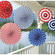 Amscan Fourth of July Party Stars & Stripes Hanging Fan Decoration Piece), Red/White/Blue, 13 x 4th Of July Celebration, 4th Of July Party, Fourth Of July, 6 July, Paper Fan Decorations, 4th Of July Decorations, Pinwheel Decorations, Wedding Decorations, Decoration Party