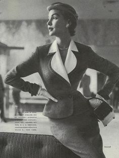1953...i love these vintage fashion images, the poses are so elegant! -jlg