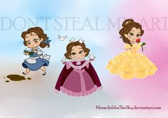 CHIBI BELLE by MoonchildinTheSky.deviantart.com on @deviantART