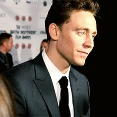 ~~(GIF 1/6) #TomHiddleston talks Christmas in 2012 BIFAs interview ~ source: hard-on-for-hiddleston.tumblr.com~~