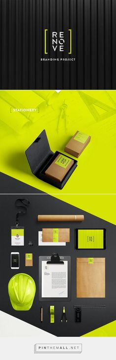 Renove Brand Identity on Behance Fivestar Branding – Design and Branding Agency & Inspiration Gallery Corporate Identity Design, Brand Identity Design, Graphic Design Branding, Visual Identity, Design Agency, Graphisches Design, Logo Design, Logos Online, Web Responsive