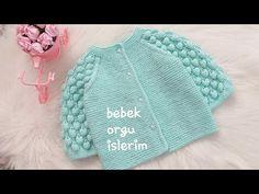 AHUDUDU HIRKA-AHUDUDU BEBEK HIRKA MODELI - YouTube Baby Knitting Patterns, Knitting Designs, Crochet Baby, Knit Crochet, Baby Cardigan, Baby Booties, Kids And Parenting, Baby Dress, Knitted Hats