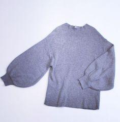 ボリューム袖が今年らしい人気のニットトップス  #poudoudou#pdd16aw#knit