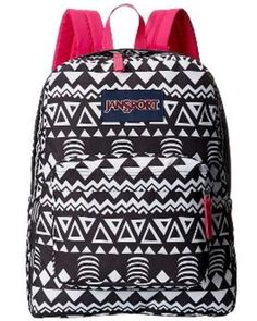 JanSport JanSport - SuperBreak (Black Geo Graphic) Backpack Bags from Zappos
