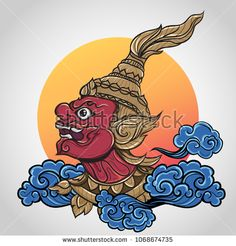 Buy Ramayana Giant Thailand Art Tattoo by ilovecoffeedesign on GraphicRiver. Fully editable vector illustration (editable EPS) of day of Ramayana Giant Thailand Art Tattoo vector in set on isola. Family First Tattoo, Thailand Tattoo, Thailand Art, Thai Tattoo Meaning, Foo Dog, Muay Thai Tattoo, Arm Tattoo, Tattoo Hand, Art Thai