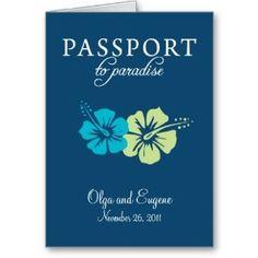 Amazon Com Riviera Maya Passport Wedding Invitation Cards Office Products