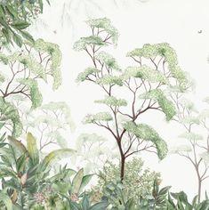 home wallpaper Forest wallpaper (detail) by Maison Kids Room Wallpaper, Home Wallpaper, Kindergarten Wallpaper, Forest Nursery, Forest Wallpaper, Wallpaper Jungle, Botanical Wallpaper, High Quality Wallpapers, Wall Murals