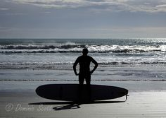 Surfer Silhouette Ohope New Zealand | Flickr - Photo Sharing! Dominic Scott Photography