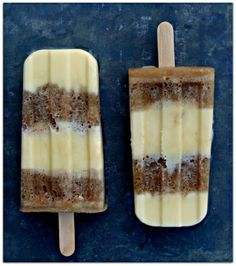 Root beer float pops- can be made alcoholic with the addition of root beer schnapps or Root.