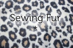 """becraftsy: """" Five tips for sewing with faux fur. """""""