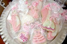 dance cookies bagged up with ruffle ribbon