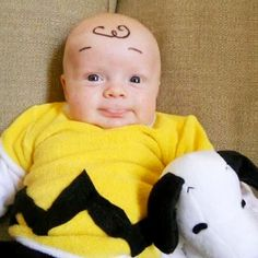 baby charlie brown with snoopy