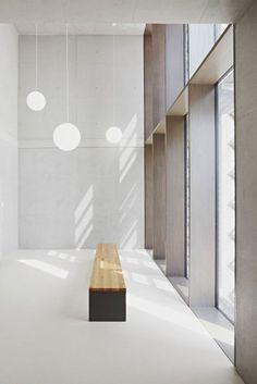 Gallery of Grammar School Frankfurt-Riedberg / Ackermann+Raff - 10 - interior design Architecture Design, Minimalist Architecture, Minimalist Interior, School Architecture, Modern Interior Design, Minimalist Decor, Modern Minimalist, Design Entrée, Design Loft