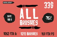 ALL Brushes By Guerillacraft by Guerillacraft on @creativework247