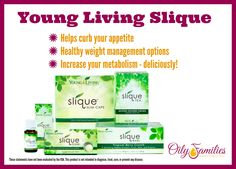 Achieve your weight loss goals with delicious products from Young Living's Slique line!  #oilyfamilies #youngliving