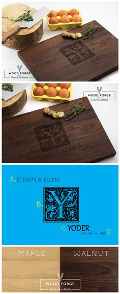Personalized Cutting Board Engraved Cutting Board by woodforgeshop, Design#10