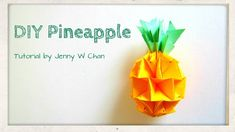 Summer Crafts - DIY How to Make a Pineapple - Red Envelope Crafts - Origami, Paper Crafts. In this tutorial, Ill show you how to make a DIY pineapple out of paper, origami style! This is a fun paper craft you can do for the summer. Kids Origami, Origami Fish, Paper Crafts Origami, Scrapbook Paper Crafts, Origami Flower, Origami Owl, New Year's Crafts, Summer Crafts, Diy Crafts