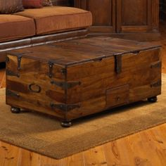 wooden chest coffee table set | for the home | pinterest | tables
