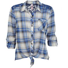 Lace Back Plaid (€32) ❤ liked on Polyvore featuring tops, blouses, shirts, blusas, shirts & blouses, button down shirt, long sleeve button up shirts, plaid button down shirt and button up shirts
