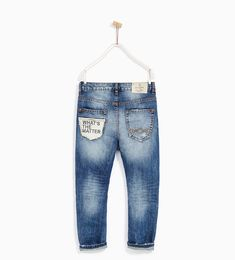JEANS WITH RIPS AND PATCHES Baby Jeans, Denim Jeans Men, Kids Wear Boys, Kids Pants, Denim Fashion, Jeans Style, Menswear, Skinny Jeans, Collection