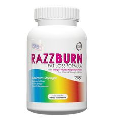 RazzBurn Provides Energy Infused Raspberry Ketones to provide maximum weight loss and helps fights fat in those stubborn areas, Green Tea to help with weight loss and energy, natural appetite supression.