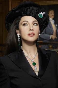 Italian actress Monica Bellucci (D'management group) features in Cartier jewelry photoshoot. This is not the first time that Monica features in advertisements for Cartier, she wears Cartier often on the red carpet.