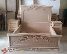 Headboards For Beds, Beautiful Furniture, Girls Bedroom Furniture, Bed Furniture, Mdf Furniture, Classic Furniture, Wooden Bed Design, Room Furniture Design, Bedroom Bed Design