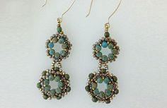 FREE Pattern Regal Rulla earrings | BeadandButton.com