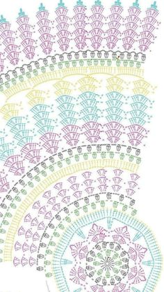 Crochet Doilies, Crochet Motif, Crochet Tablecloth… – - she Motif Mandala Crochet, Crochet Butterfly Free Pattern, Crochet Doily Diagram, Crochet Rug Patterns, Crochet Circles, Crochet Doily Patterns, Crochet Round, Crochet Squares, Thread Crochet