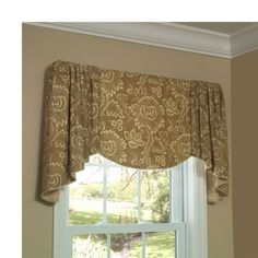 Verona Valance. The Verona Valance features a flat underlay and luxurious cascades. Choose a fabric with a lovely motif for the center, and it will be framed with the soft gathered cascades. Your fabric choice can give this valance a traditional or transitional style. Suitable fabrics: Light to medium weight fabrics such as cottons, linens and silks.