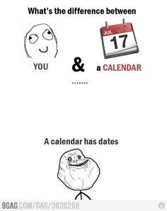 Calendar has more dates than you. hahah