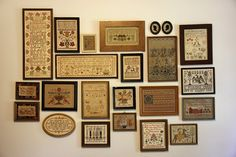 As you can well imagine, I have samplers all over my house. Mostly my designs, but also my growing collection of antiques and a few that wer...