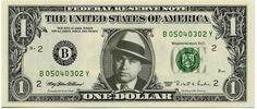 AL CAPONE on REAL Dollar Bill - Celebrity Cash - Money Art Gift