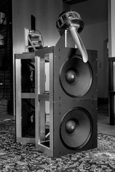 Dipole and tweeter with Karlsson coupler, drivers by Wolf von Langa