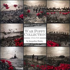 Remembrance Day Poppy Art Paintings by Jacqueline Hurley