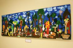 Briargrove Elementary Art Page: The Deciduous Forest! a Collaborative Recycled Habitat