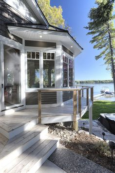 New Classic Coastal Home - Home Bunch - An Interior Design & Luxury Homes Blog. Deck and railing.