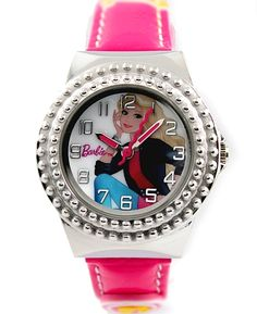 KW054A New Magenta Band PNP Shiny Silver Kasse Børn Watch