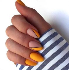stunning nail art ideas~ - Page 7 of 83 - Inspiration Diary stunning nail art ideas~ - Page 7 of 83 - Inspiration Diary - stylish fall nail designs and colors you'll love amazing designs of easter nails for your inspiration 91 Yellow Nails, Pink Nails, My Nails, Cute Acrylic Nails, Cute Nails, Pretty Nails, Short Nails Acrylic, Short Nails Art, Minimalist Nails