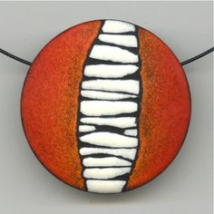 Sgraffito Pendant, Angela Gerhard Interesting things with dead links Porcelain Jewelry, Ceramic Jewelry, Enamel Jewelry, Ceramic Beads, Glass Jewelry, Jewellery, Fine Porcelain, Polymer Clay Kunst, Polymer Clay Projects