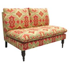 I pinned this Dijon Settee in Diamond Fiesta from the Cloverbloom Studios event at Joss and Main!